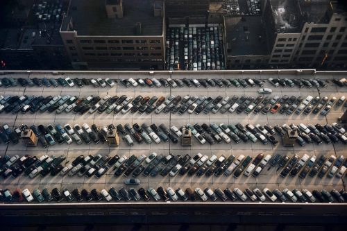 Werner Bischof –Roof of the bus terminal, New York, USA, 1953