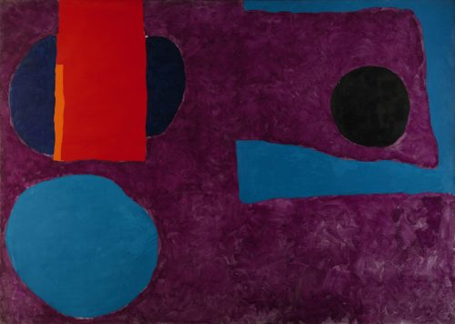Patrick Heron - Big Violet with Red and Blue