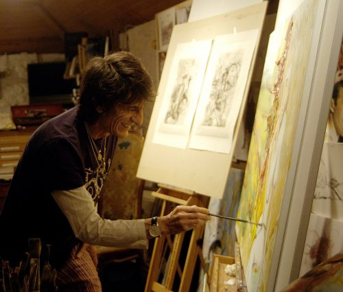 Ronnie Wood in the studio
